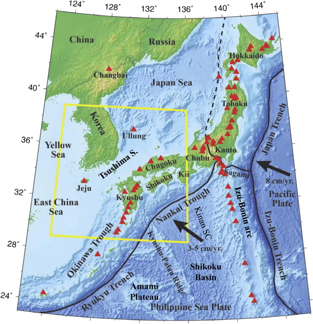 Aseismic deep subduction of the philippine sea plate and slab window map showing the tectonic setting in and around the korean peninsula and the japan islands the colors show the surface topography gumiabroncs Images