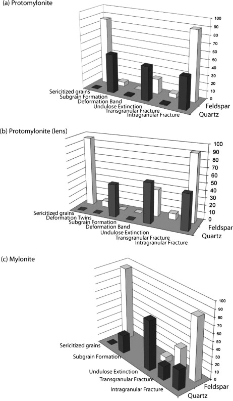 Spatial variations in deformation mechanisms along the Main