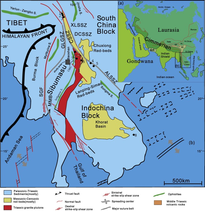 Late Triassic Paleomagnetic Result From The Baoshan Terrane West - Baoshan map