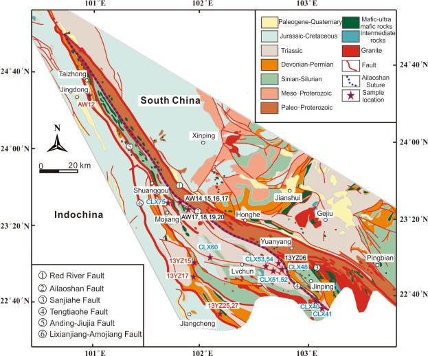 Changes of provenance of Permian and Triassic sedimentary