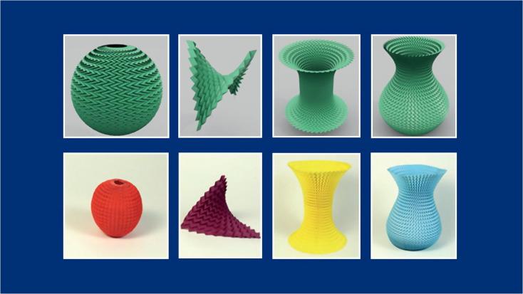 Download 3D print files original origami flower vase vo01 for 3d ... | 413x734