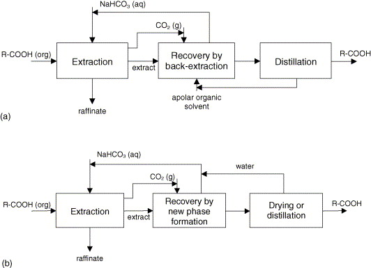 Reactive Extraction Of Carboxylic Acids From Apolar Hydrocarbons