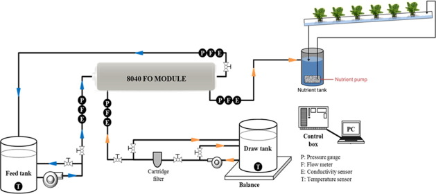 Fertilizer drawn forward osmosis process for sustainable water reuse