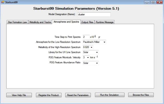 Starburst99 for Windows - ScienceDirect