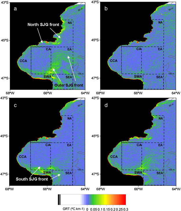 Synoptic Oceanography Of San Jorge Gulf Argentina A Template For