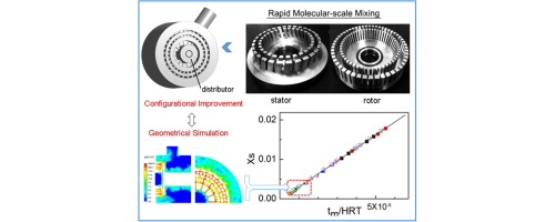 Geometrical improvement of inline high shear mixers to