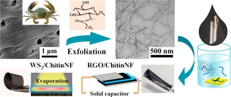 Liquid exfoliated chitin nanofibrils for re-dispersibility and hybridization of two-dimensional nanomaterials J You, L Zhu, Z Wang, L Zong, M Li, X Wu, C Li Chemical Engineering Journal 2018, 344, 498-505