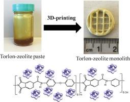 Development of 3D-printed polymer-zeolite composite