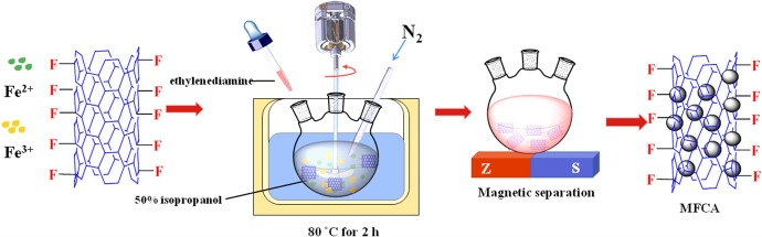 One-pot fabrication of magnetic fluorinated carbon nanotubes