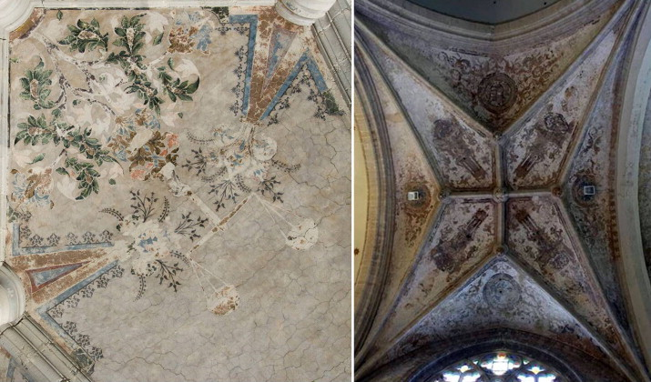 In situ investigations of vault paintings in the Antwerp cathedral