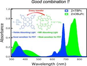 Energy transfer between two light harvesting phthalocyanine