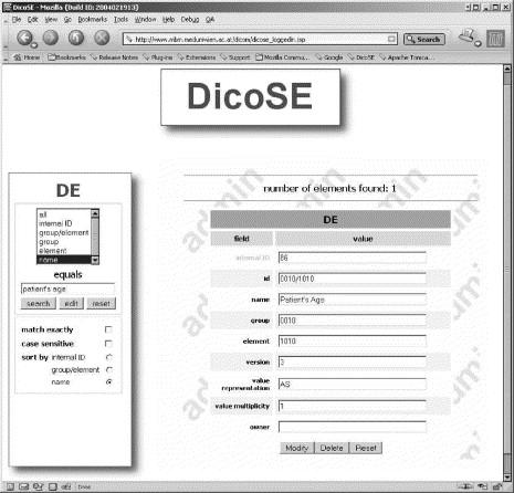 The JAVA-based DICOM query interface DicoSE - ScienceDirect