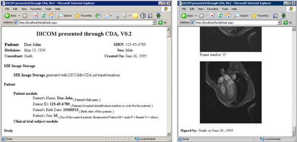 HL7 and DICOM based integration of radiology departments