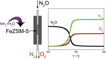 Ammonia-steam treated FeZSM-5 for direct N2O decomposition
