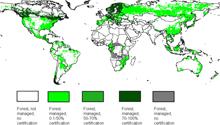 Map Of Uk Forests.Mapping Certified Forests For Sustainable Management A Global Tool