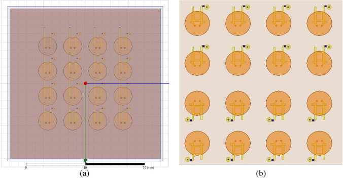 Design of a compact multilayer circularly polarized phased