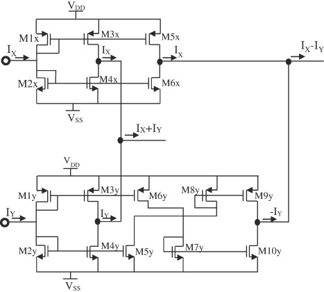 Current Multiplier Circuit Diagram | A Cmos Current Mode Four Quadrant Analog Multiplier Free From