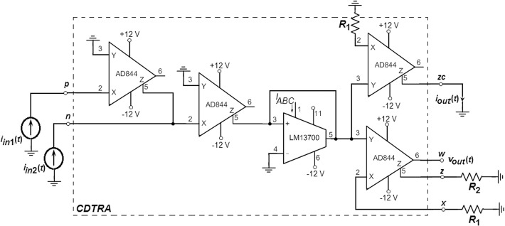 Current And Transimpedance Mode Instrumentation Amplifier Using A