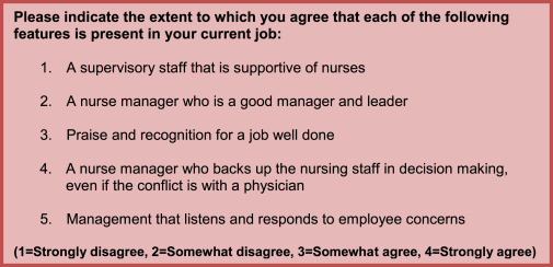 Intention to leave the workplace among nurses working with
