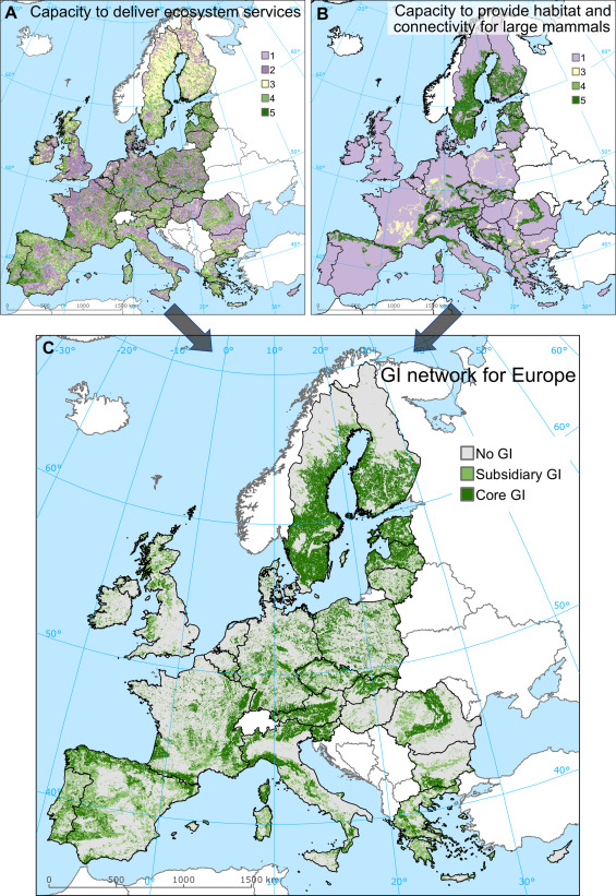 Mapping green infrastructure based on ecosystem services and ...