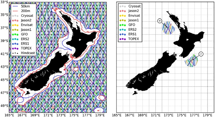Directional correction of modeled sea and swell wave heights using