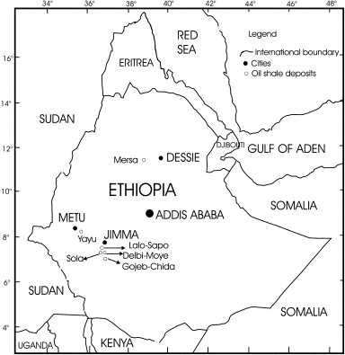 Fossil fuel energy resources of Ethiopia: Oil shale deposits