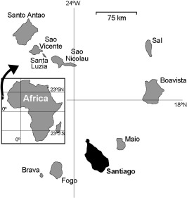 Cape Verde Location On Africa Map on