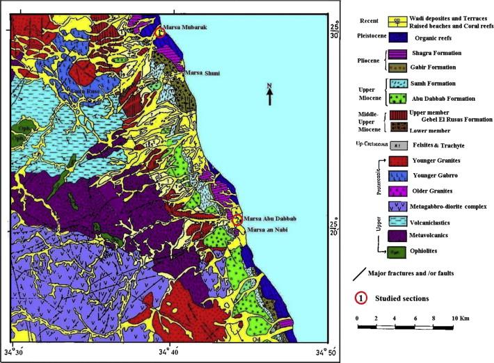 Geochemistry Of Sandstones From The Pliocene Gabir Formation - Map of egypt marsa alam