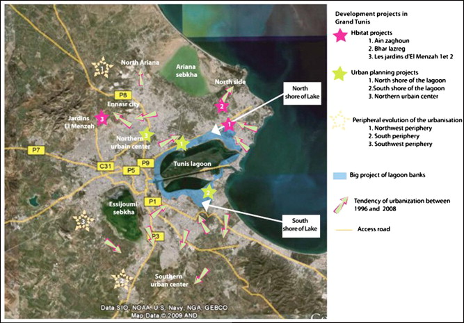 Geotechnical Characterization Of The Quaternary Alluvial Deposits - Tunisia cities small scale map