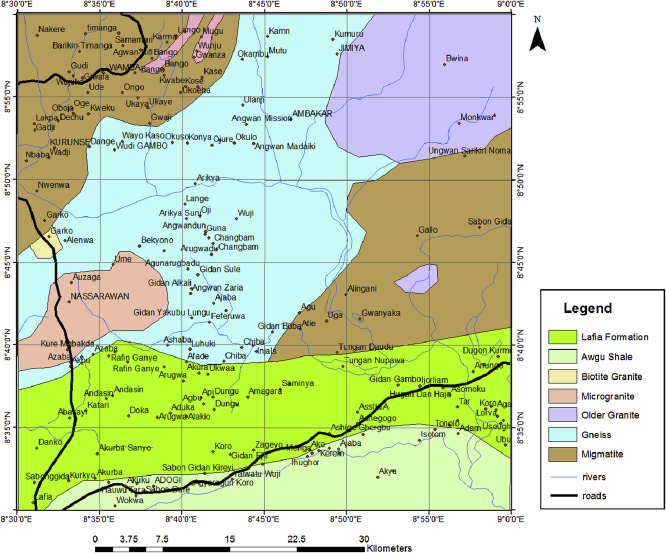 geological map of wamba and its adjoining areas modified from macleod et al 1971