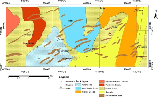 Aeromagnetic Mapping Of Basement Structures And Mineralisation - Ilesa map