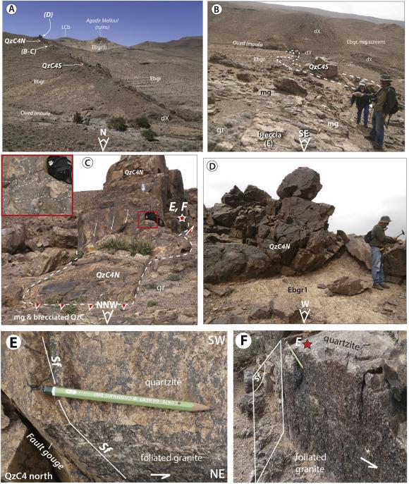 Quartzite Crests In Paleoproterozoic Granites Anti Atlas