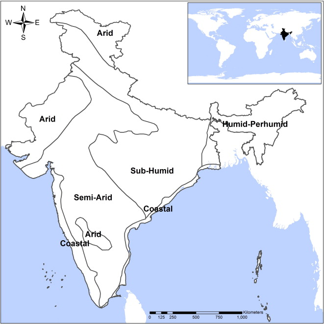 Assessing biome boundary shifts under climate change scenarios in fig 1 location of the study area comprising entire region of india it also shows the six agro ecological zones in the country gumiabroncs Images