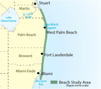 Map Of Southeast Florida Beaches.Ecosystem Indicators For Southeast Florida Beaches Sciencedirect