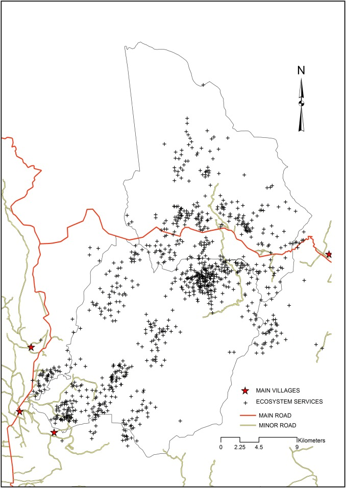 Community mapping of ecosystem services in tropical