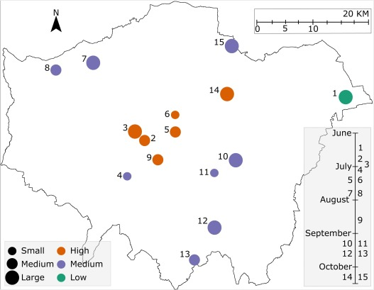 Biases of acoustic indices measuring biodiversity in urban areas