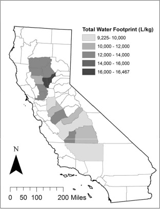 Water-indexed benefits and impacts of California almonds