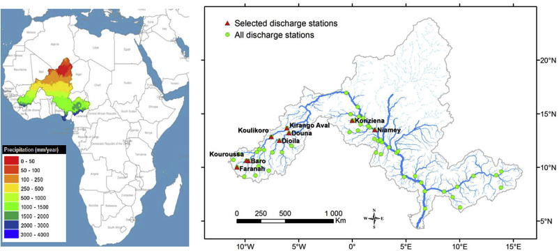 Providing peak river flow statistics and forecasting in the Niger ...