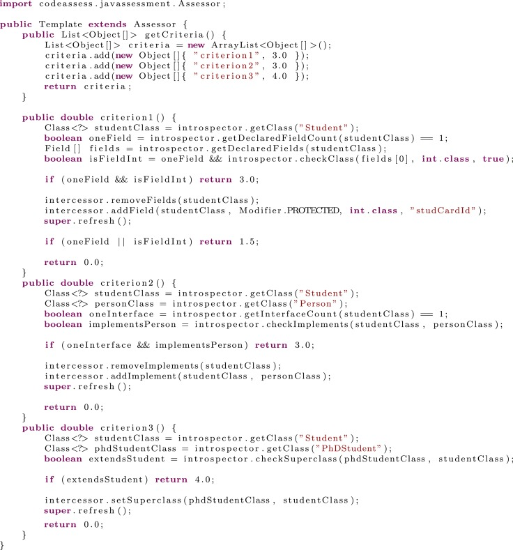 Automatic assessment of Java code - ScienceDirect