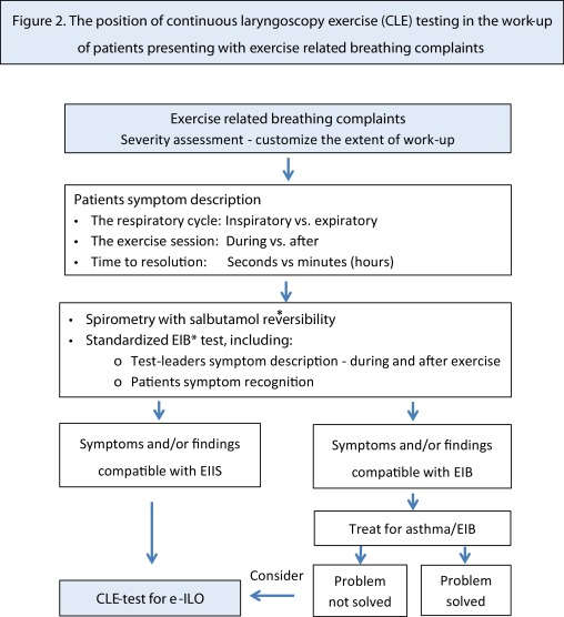 Exercise inducible laryngeal obstruction: diagnostics and