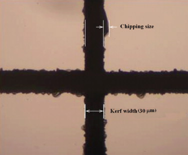 Investigation of chipping and wear of silicon wafer dicing