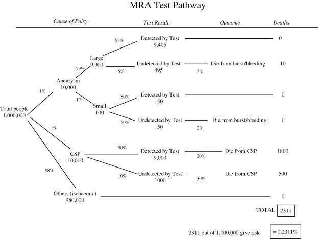 Comparing risks of alternative medical diagnosis using
