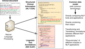 Common data model for natural language processing based on