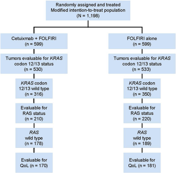 Quality Of Life Analysis In Patients With Ras Wild Type Metastatic Colorectal Cancer Treated With First Line Cetuximab Plus Chemotherapy Sciencedirect