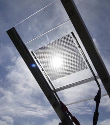 Transparent Solar Panels >> Prototype Semi Transparent Photovoltaic Modules For Greenhouse Roof