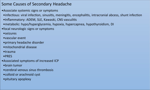 Diagnosis and Management of Childhood Headache - ScienceDirect