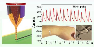 Direct write of a flexible high-sensitivity pressure sensor