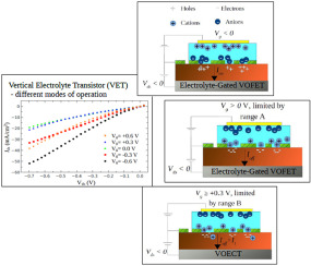 Fabrication and electrical characterization of vertical electrolyte transistor - ScienceDirect