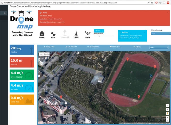 Dronemap Planner: A service-oriented cloud-based management