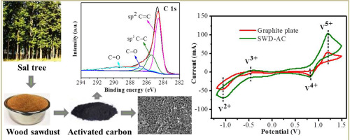 Sal wood sawdust derived highly mesoporous carbon as
